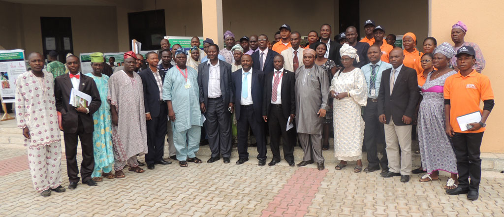 IITA DG Sanginga with IYA and members of staff of UNIOSUN after the inaugural lecture