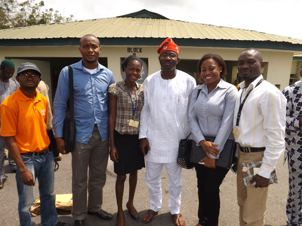 IYA with the chairman of Ibarapa Local Government, Mr Olaosegba