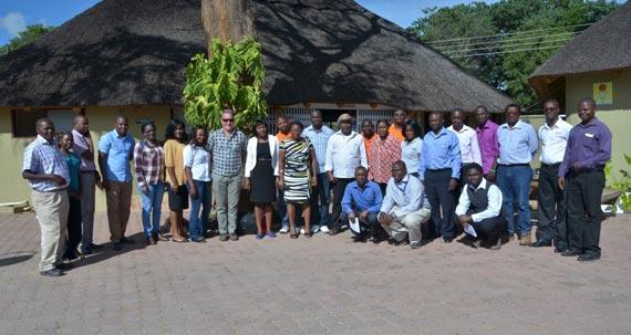 IITA-Zambia staff in a group photo with DG Sanginga