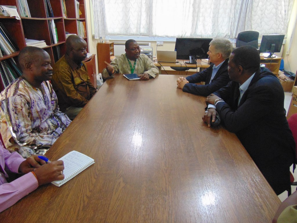 ICRISAT DG and his team in a meeting with IITA Kano station representatives.