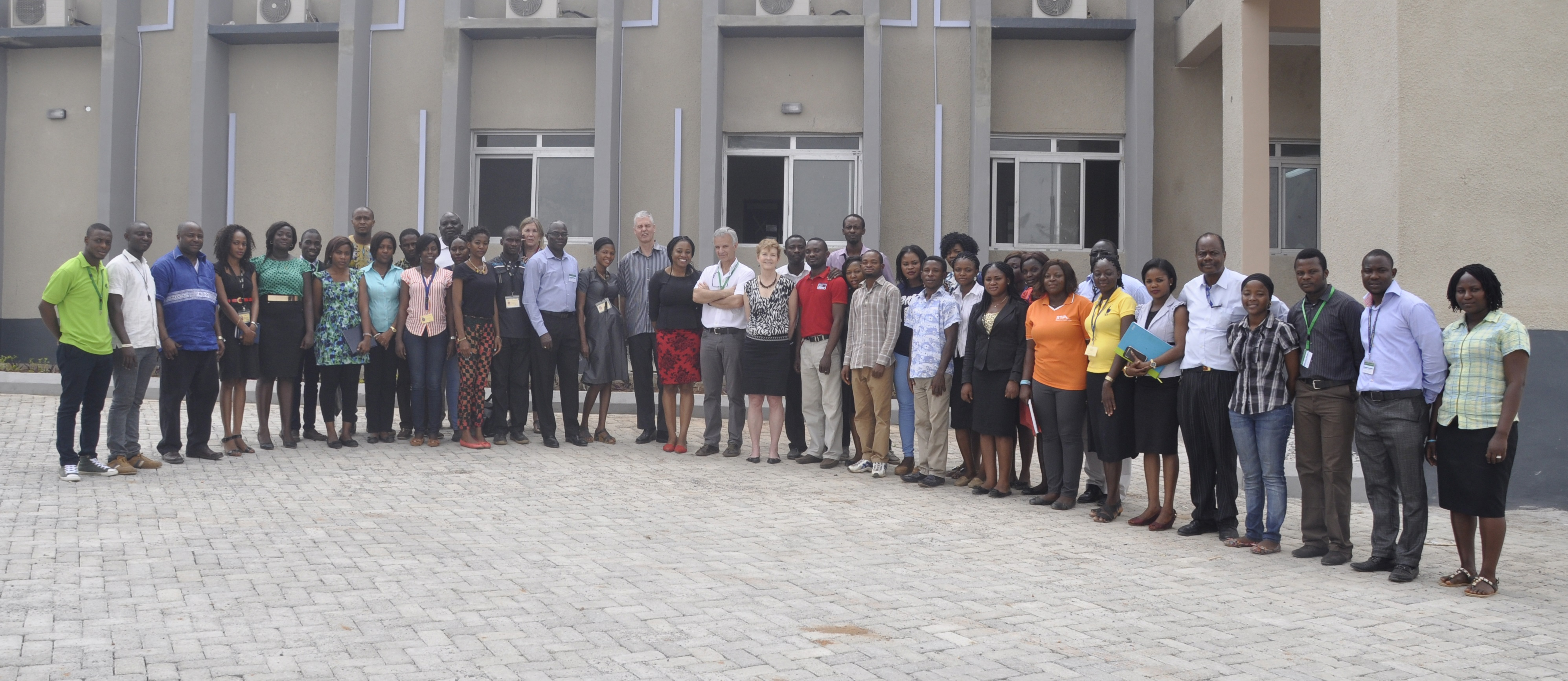 Group photo with IITA Youth Agripreneurs.
