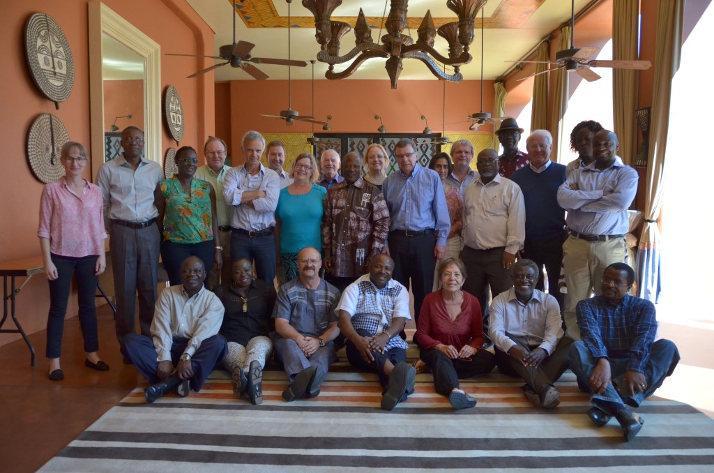 IITA BoT members with IITA management and directorate.