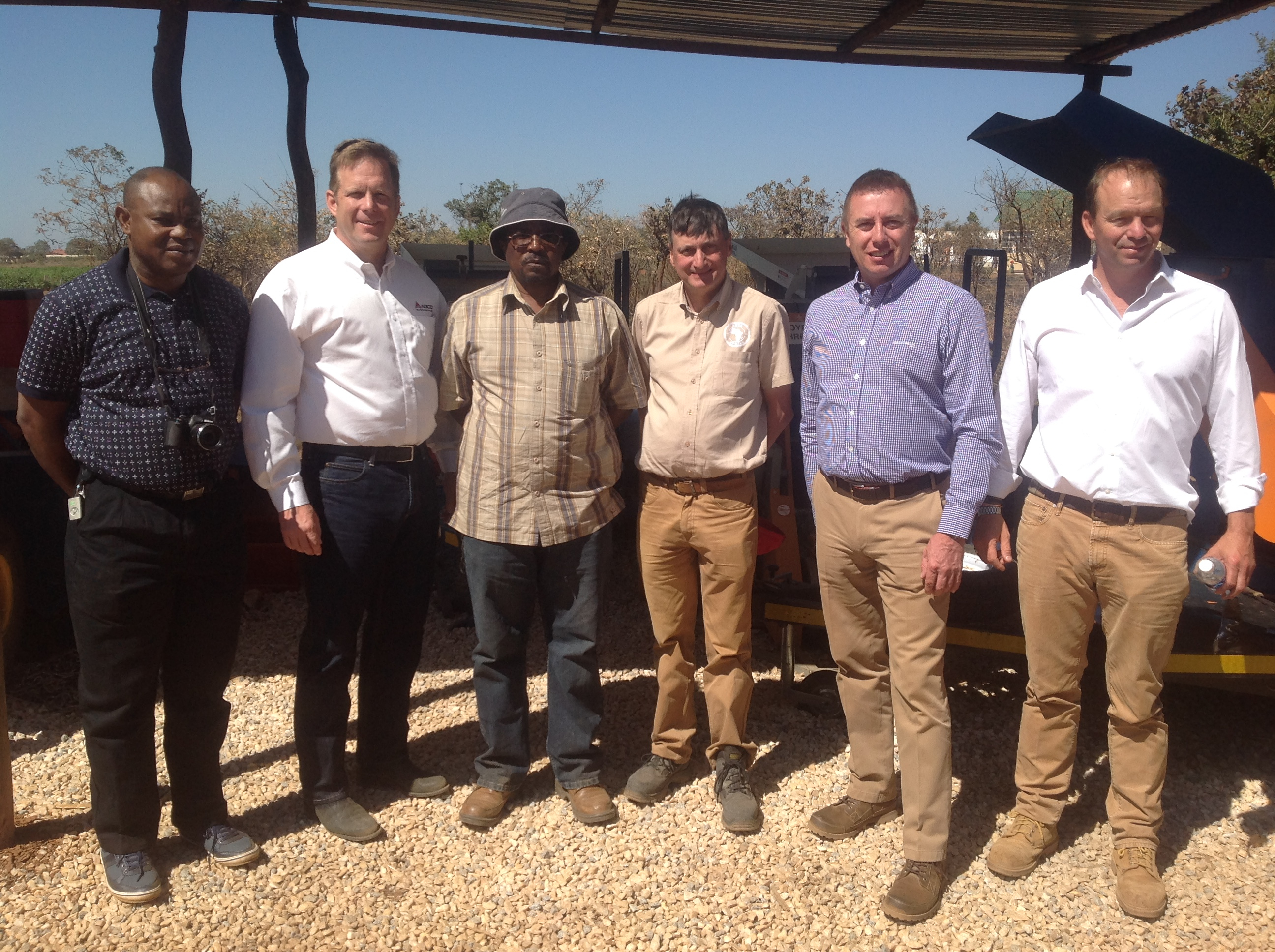 AGCO visitors at the IITA-Zambia facilities.