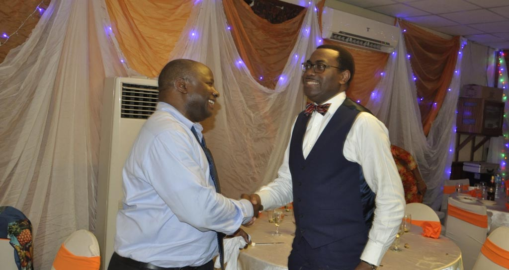 Picture of DG Sanginga and AfDB President Adesina.