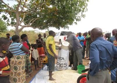 Farmers at Ndurungumi use PICS bag for maize storage.