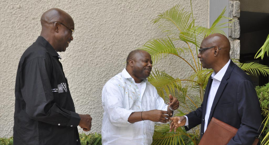 Picture of DG Sanginga welcoming his old friends.