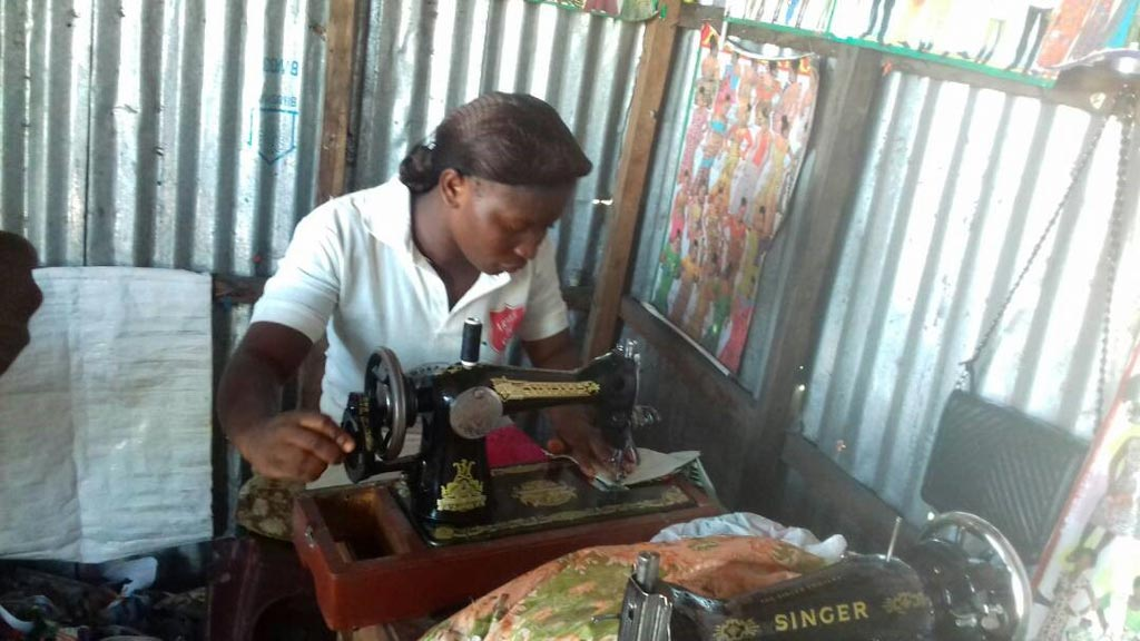 Picture of Kungwa sews for a living